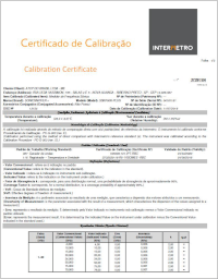 SonicSniffer calibration certificate example